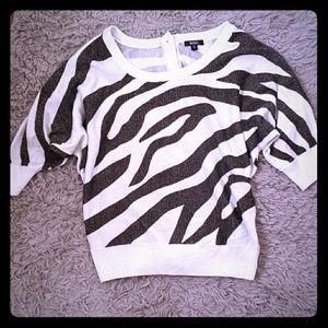 Xoxo black and white sweater